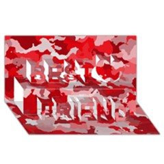 Camouflage Red Best Friends 3D Greeting Card (8x4)