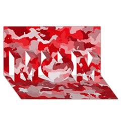 Camouflage Red Mom 3d Greeting Card (8x4)