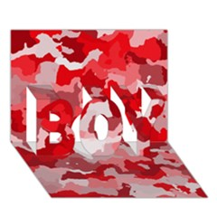 Camouflage Red BOY 3D Greeting Card (7x5)