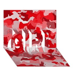 Camouflage Red GIRL 3D Greeting Card (7x5)