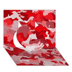 Camouflage Red Heart 3d Greeting Card (7x5)