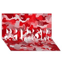 Camouflage Red #1 MOM 3D Greeting Cards (8x4)
