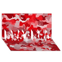 Camouflage Red BEST BRO 3D Greeting Card (8x4)