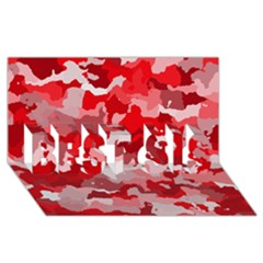 Camouflage Red BEST SIS 3D Greeting Card (8x4)