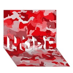 Camouflage Red HOPE 3D Greeting Card (7x5)