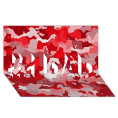 Camouflage Red #1 Dad 3d Greeting Card (8x4)