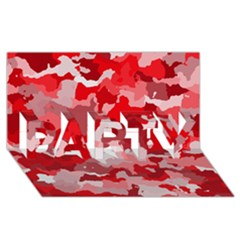 Camouflage Red PARTY 3D Greeting Card (8x4)