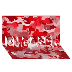 Camouflage Red ENGAGED 3D Greeting Card (8x4)
