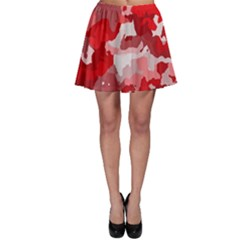 Camouflage Red Skater Skirts