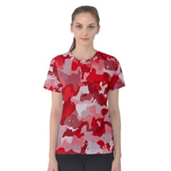Camouflage Red Women s Cotton Tees