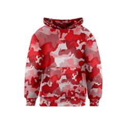 Camouflage Red Kid s Pullover Hoodies