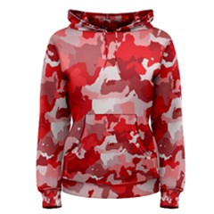 Camouflage Red Women s Pullover Hoodies