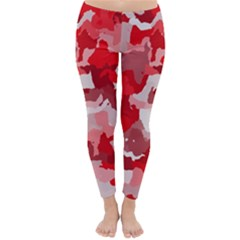 Camouflage Red Winter Leggings