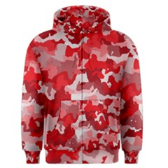 Camouflage Red Men s Zipper Hoodies