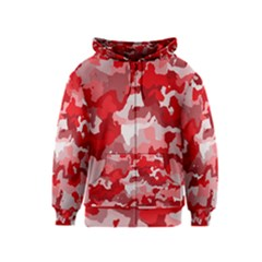 Camouflage Red Kids Zipper Hoodies