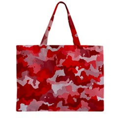 Camouflage Red Zipper Tiny Tote Bags