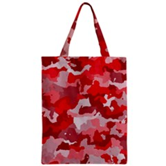 Camouflage Red Zipper Classic Tote Bags