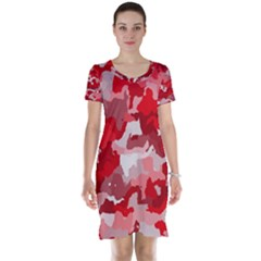 Camouflage Red Short Sleeve Nightdresses
