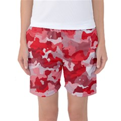Camouflage Red Women s Basketball Shorts