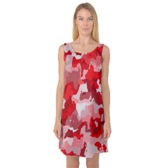 Camouflage Red Sleeveless Satin Nightdresses
