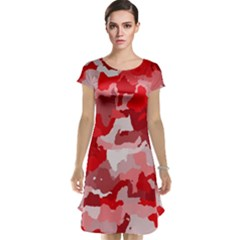 Camouflage Red Cap Sleeve Nightdresses