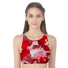 Camouflage Red Tank Bikini Top