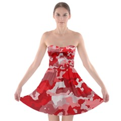 Camouflage Red Strapless Bra Top Dress