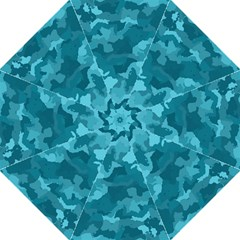 Camouflage Teal Folding Umbrellas