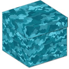Camouflage Teal Storage Stool 12