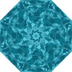Camouflage Teal Hook Handle Umbrellas (Medium)