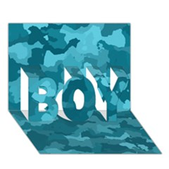 Camouflage Teal BOY 3D Greeting Card (7x5)