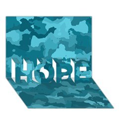Camouflage Teal Hope 3d Greeting Card (7x5)
