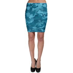 Camouflage Teal Bodycon Skirts