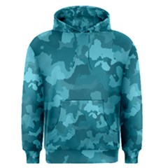 Camouflage Teal Men s Pullover Hoodies