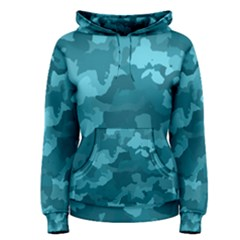 Camouflage Teal Women s Pullover Hoodies