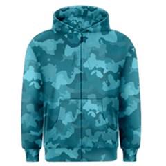 Camouflage Teal Men s Zipper Hoodies