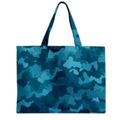 Camouflage Teal Zipper Tiny Tote Bags