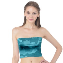 Camouflage Teal Women s Tube Tops