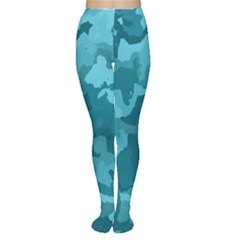 Camouflage Teal Women s Tights