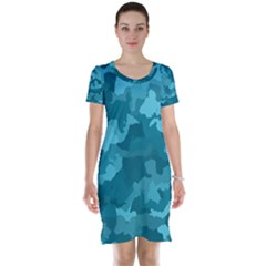 Camouflage Teal Short Sleeve Nightdresses
