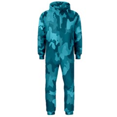 Camouflage Teal Hooded Jumpsuit (Men)