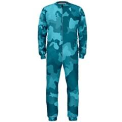 Camouflage Teal OnePiece Jumpsuit (Men)