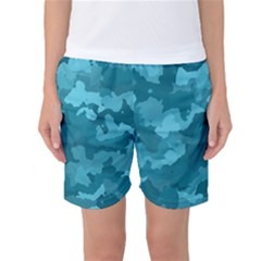 Camouflage Teal Women s Basketball Shorts