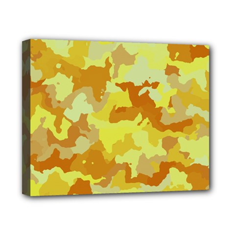 Camouflage Yellow Canvas 10  X 8