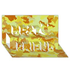 Camouflage Yellow Best Friends 3D Greeting Card (8x4)
