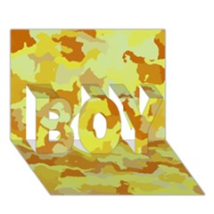 Camouflage Yellow BOY 3D Greeting Card (7x5)