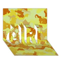Camouflage Yellow GIRL 3D Greeting Card (7x5)