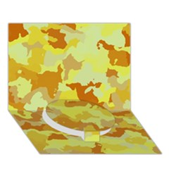 Camouflage Yellow Circle Bottom 3D Greeting Card (7x5)