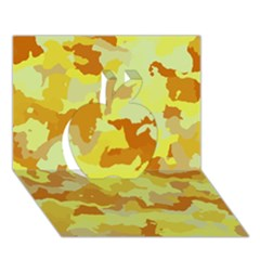 Camouflage Yellow Apple 3D Greeting Card (7x5)