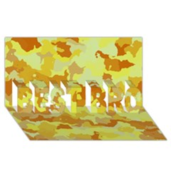Camouflage Yellow BEST BRO 3D Greeting Card (8x4)